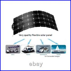100 Watt Flexible Solar Panel Kit with PWM 10A 12/24V LCD Controller Off Grid RV