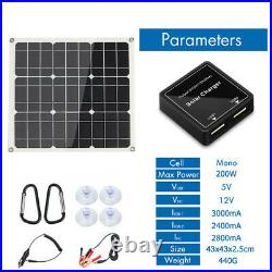100W 200W Solar Panel Kit for 12V Battery Power Charge + Solar Controller Home