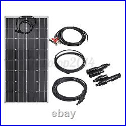 100W Flexible Solar Panel 12/24V Battery Charge Device Kit USB for Boat Home