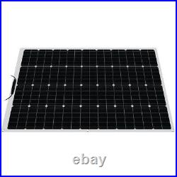 100W Flexible Solar Panel Kit 18V Battery Power Charge For RV car Boat Camping