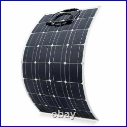 100W Flexible Solar Panel Only 12V Battery Charger Home Roof Yacht Caravn Marine
