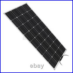 100W IP65 Flexible Solar Panel 20V Battery Charge Device Kit USB For Boat Home a