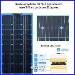 100W Portable Solar Panel mono flexible For Car Battery Charger/RV/camping /Home