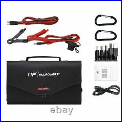 100W Portable Waterproof Solar Panel Emergency Laptop Mobile Phone Charger Kit