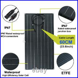 120/100W ETFE Flexible Solar Panel Module Kit Car Boat Charger Dual Controller