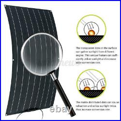 120W 20A 45'' Flexible Solar Panel Kit Battery charge Controller For Caravan RV