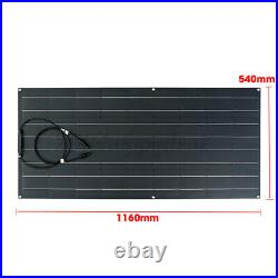 120W Flexible Solar Panel Kit Monocrystalline Camping Charge Battery Connector