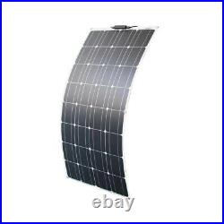 12v 100W flexible solar panel with solar controller for boat car RV and battery
