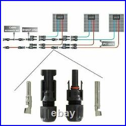 1300 Pairs Male Female M/F Wire Cable Connector Set Solar Panel Waterproof