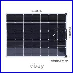 150W 12V Flexible Solar Panel Kit Battery Charger 20A Controller for Car Boat