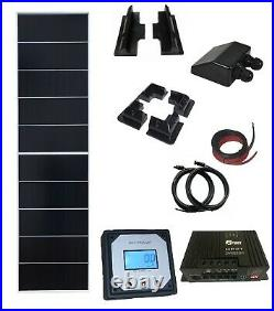 200W 190w solar panel kit 20A charger MPPT controller with remote LCD motorhome