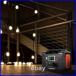 200W Portable Power Station 40800mAh Solar Generator with110V AC Outlet 2 DC Ports