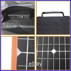 200W Protable Foldable Solar Panel Battery Charger for Phone RV Camping Outdoor