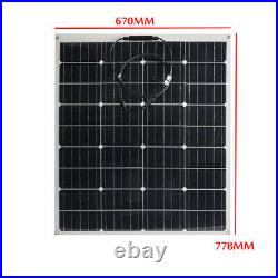 240W 18V Flexible Solar Panel Monocrystalline Camping Battery Charge Waterproof