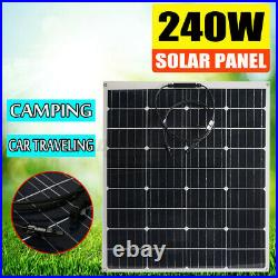 240W Highly Flexible Monocrystalline Solar Panel Connector Car Boat Camping