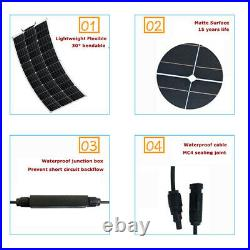 250W Solar Panel Kit ETFE Solar Cell DIY Connector Charger High Efficiency