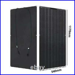 300W 2x150W Flexible Monocrystalline Solar Panel 18V Battery Charger Home System