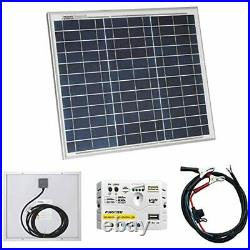 30W 12V Photonic Universe solar power kit with 5A charge controller and battery