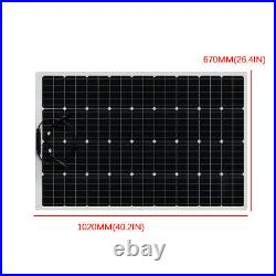 320W 18V Flexible Solar Panel Battery Power Charger RV Car Boat Outdoor Camping
