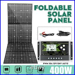 400W 12V USB Flexible Solar Panel Battery Charger Kit Boat Car & 10A Controller