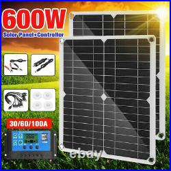 600W SOLAR PANEL Kits 60A/100A BATTERY CHAGER with Controller Caravan Boat HOME