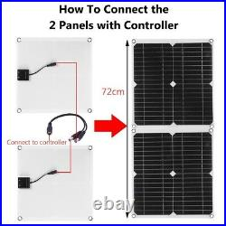 600With300W SOLAR PANEL Kit 60A/100A BATTERY CHAGER with Controller Caravan Boat