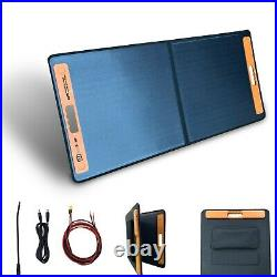 60W Foldable Portable Solar Panel Charger Power Kit Battery 12V Mono Camping
