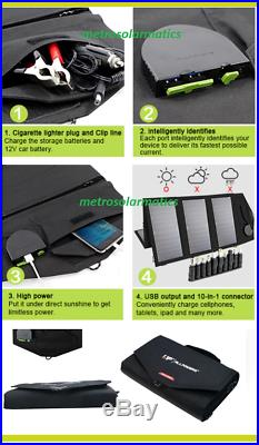 Allpowers 60W Foldable Solar Panel 12V Battery Charger Computer Phone USB Charge