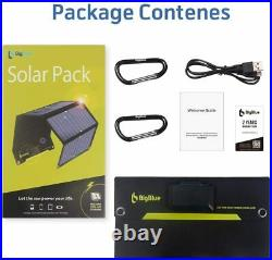 BigBlue Solar Charger SunPower Mobile Solar Panel USB Ports for iPhone Tablet