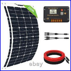 ECO 130W 260W 520W Flexible Solar Panel Kit For RV Boat Home Camp Battery Charge