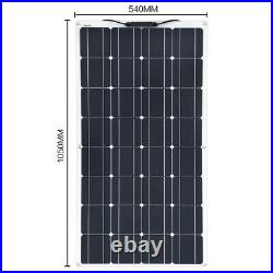 Flexible Solar Panel Charger Controller Charging Kit Marine Power 200 100 W