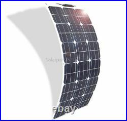 Flexible Solar Panels For RV Boat Car Home 12V 24V Battery Chargers Power Source