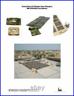 Global Solar 22042A 42W Foldable 12V CIGS Military Solar Panel withETFE Black
