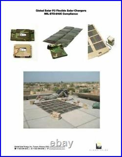 Global Solar 42W P3 24V Foldable CIGS Military Woodland Camo Solar Panel withETFE
