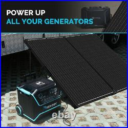 OPEN BOX Renogy Foldable Solar Suitcase Kit 200W Mono with 20A Charge Controller