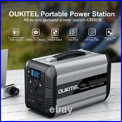 Oukitel 500w, 614wh, 192000mah, 110v Rechargeable Portable Power Supply Station