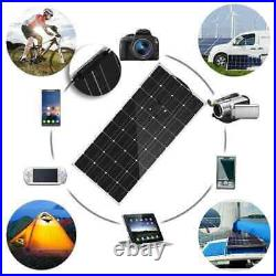 Portable flexible solar panel 100W 18V Car battery Free charger camping outdoor