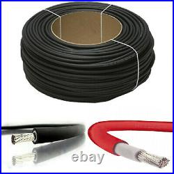 Quality Solar Panel PV Cable DC Rated 4mm² 6mm² Double Insulated Red/Black
