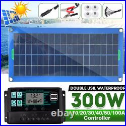 Solar Panel Kit 300W 12V 100A Efficiency Solar Controller System Battery Charger