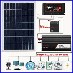 Solar Panel Kit Home 1000W Solar Power Generator Grid System Station 50A NEW US