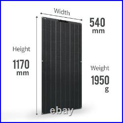 Solar panel 300w 150w 12v kit system flexible solar charger home camping 1000w