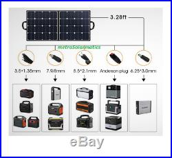 Suaoki 100W Briefcase Solar Panel 18V Charger Yeti Power Stations Laptops Phones