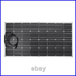 US 100W Solar Panel Kit Connector USB Charged Device 2-in-1 Adapter For Marine