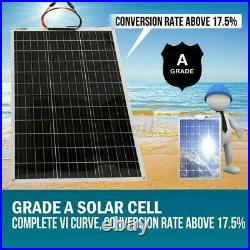 US STCCK 250W Flexible Solar Panel Battery Charger 18V Car Camping RV Marine