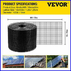 VEVOR Solar Panel Wire Mesh Critter Guard Kit 6in x 98ft PVC with 100pcs Fasteners