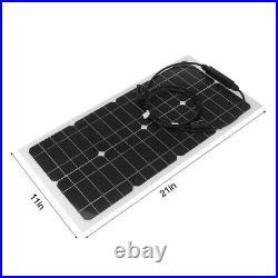 Waterproof Solar Panel Kit 100W Flexible Solar Panels For RV boat camping Home